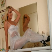 Hot housewife Debbie loves showing her undergear