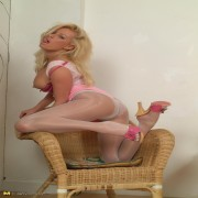 Hot blonde housewife getting naughty